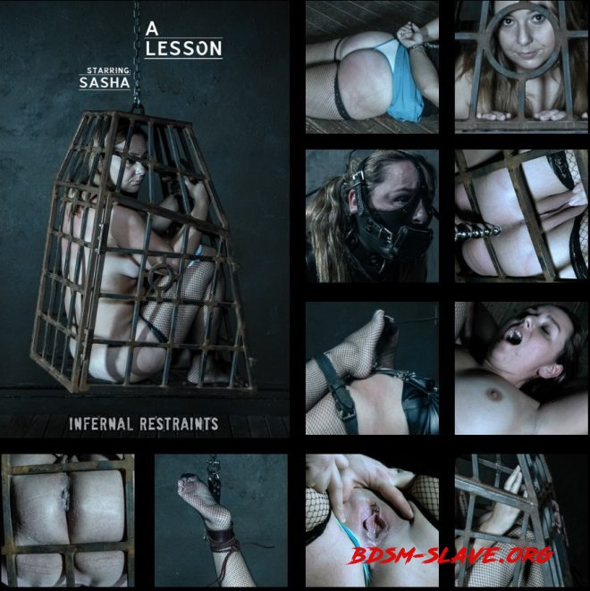 A Lesson - Disobedience is rewarded with torment for Sasha. Actress - Sasha (INFERNAL RESTRAINTS) [SD/2019]