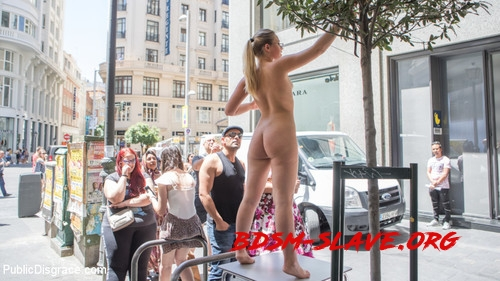 Perky Blonde Selvaggia Fully Nude in Public Gets Anal Fisted & DP'd (PUBLIC DISGRACE) [HD/2019]