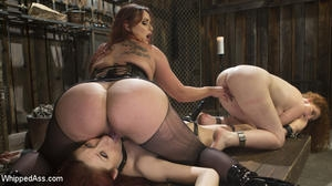 Bella Rossi, Violet Monroe and Emma Heart (WHIPPED ASS) [HD/2019]