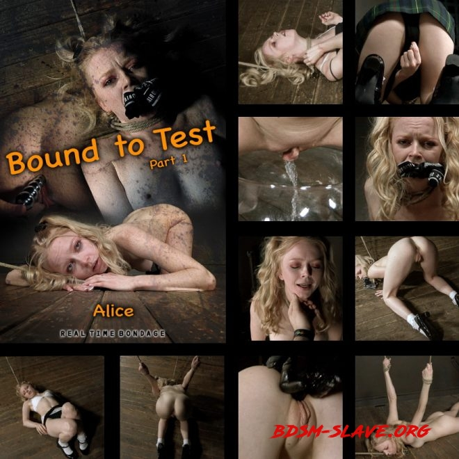 Bound to Test | Alice tests her boundaries. Actress - Alice (REAL TIME BONDAGE) [HD/2019]