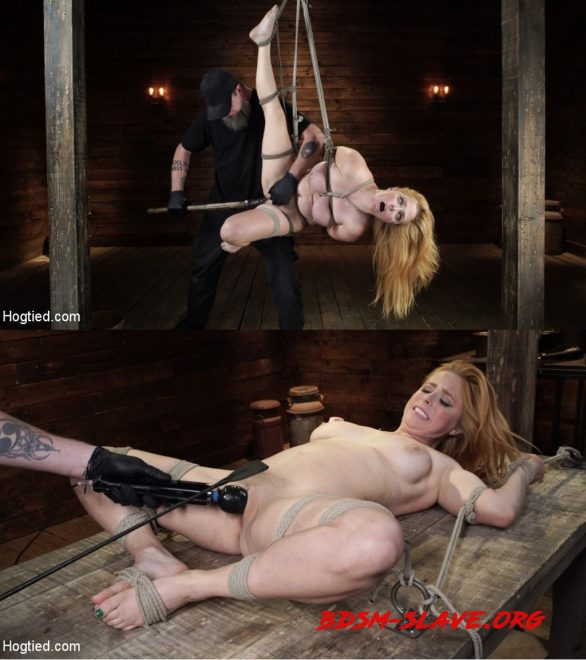 Blue-Eyed Redhead Damsel Tormented in Strict Bondage Actress - Penny Pax (HOGTIED) [HD/2020]