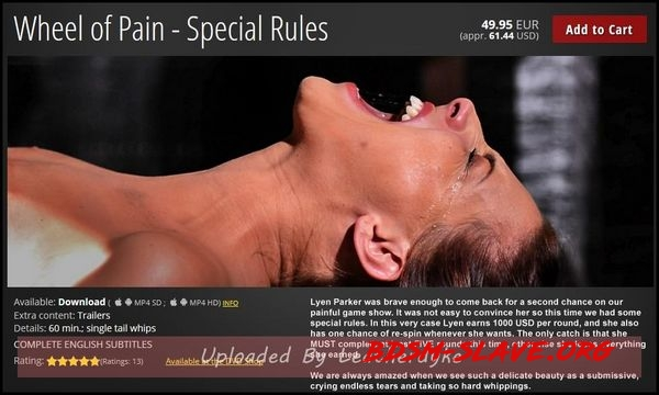 Wheel of Pain Actress - Special Rules [HD/2020]