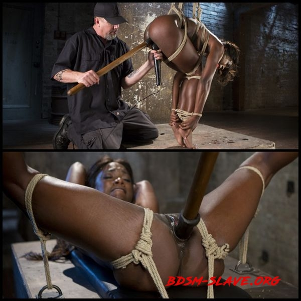 Stunning Ebony Slut in Brutal Bondage and Tormented [HD/2016]