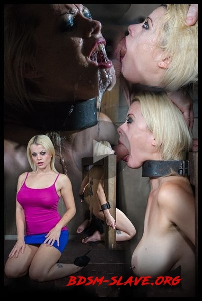 Nadia White is severely bound in metal, completely helpless on a sybian. Brutal throat boarding! [HD/2016]