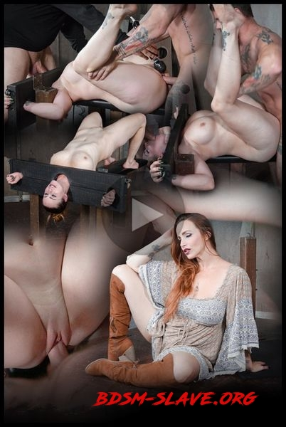 Bella Rossi bound in stocks, brutally face fucked upside down and roughly fucked to orgasms! Actress - Bella Rossi [HD/2016]