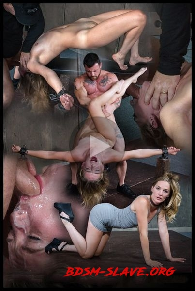 Hot Domme Mona Wales, is bound down and brutally dicked down, rough face fucking and O's [HD/2016]