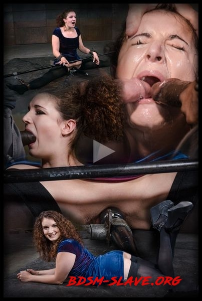 Curly haired newbie Endza bound into the splits and facefucked by BBC, drooling orgasms [HD/2020]
