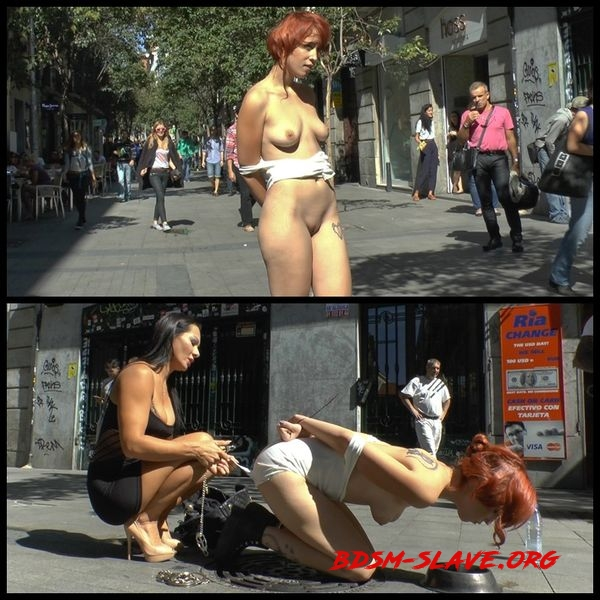 Spanish redheaded floozy beautifully humiliated in Madrid [HD/2020]