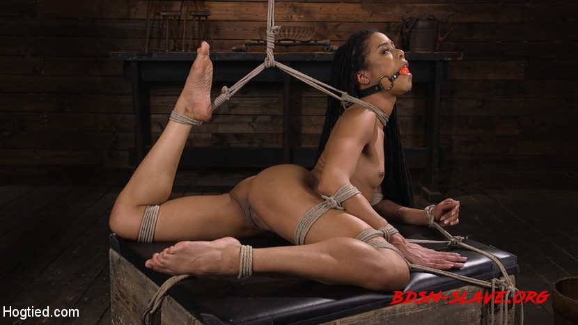 Torture Domination and Incredible pain Actress - Kira Noir (Hogtied) [HD/2020]
