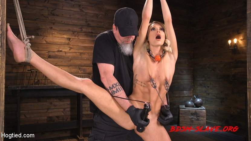 Hard Fucked in the Pussy BDSM Actress - Emma Hix (Hogtied) [HD/2020]